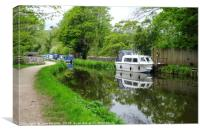 Monmouthshire and Brecon Canal , Canvas Print