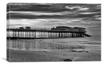 Cromer Pier in black and white, Canvas Print
