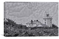Cromer Lighthouse Black and White, Canvas Print