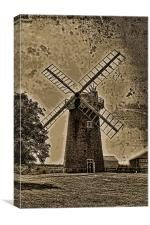 Horsey windpump sepia, Canvas Print