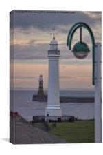 Seaburn and Roker Lighthouse., Canvas Print