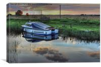 Boat at West Somerton , Canvas Print