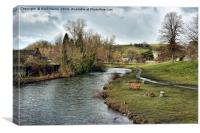River Wye at Bakewell, Canvas Print