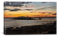 Birnbeck Pier and island Weston-super-Mare, Canvas Print