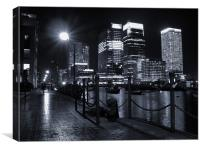 Canary Wharf Black & White, Canvas Print
