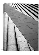 Black & White steps, Canvas Print
