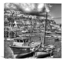 Mevagissey, inner harbour, Canvas Print