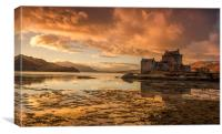 Highland Sunset, Canvas Print
