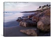 Bonchurch Rocks, Canvas Print