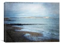 Shanklin Groynes, Canvas Print