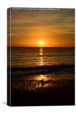 Sea Shore Sunset, Canvas Print