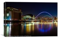 Night Tyne on the Quayside, Canvas Print