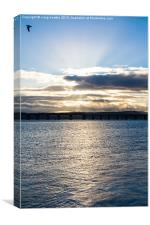 River Tay Sunset, Canvas Print