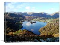 Grasmere on a clear sunny day, Canvas Print