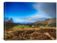 Rainbow over Dumgoyne Hill, Strathblane, Canvas Print