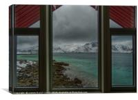 Lofoten Islands, looking out from our window, Canvas Print