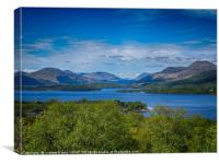 Inchcailloch island looking to Ben Lomond , Canvas Print