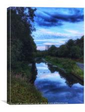 Forth & Clyde canal near Kelvindale / Maryhill, Canvas Print