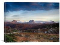 The mountains of Assynt, Lochinver, Scotland, Canvas Print