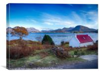 The wee red roofed house, Applecross Peninsula, Canvas Print