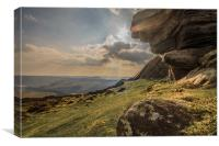 View Across Derwent Valley, Canvas Print