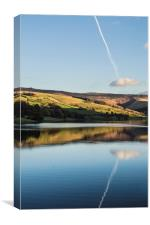 Lady Bower Reservoir Reflection, Canvas Print