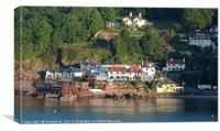 Babbacombe Harbour Wall, Canvas Print