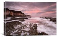 Thornwick Bay Sunrise 1, Canvas Print