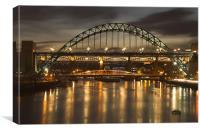 Dusk over the Tyne, Canvas Print