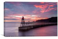 Whitby East Pier, Canvas Print