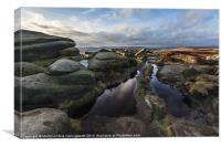 Stanage Edge, Along The Top, Canvas Print