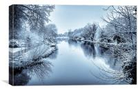 Frozen Canal, Canvas Print