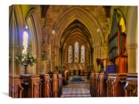 St Gregorys Welford, Canvas Print