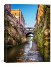 Chester Canal, Canvas Print