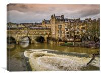 Pulteney Weir, Canvas Print