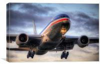 American Airlines, Canvas Print