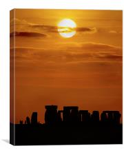 Stonehenge Sunset Solstice, Canvas Print