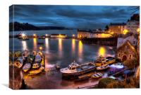 Tenby Harbour High Tide, Canvas Print