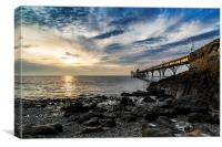 Clevedon Pier April Sunset, Canvas Print