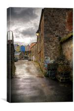 Tenby Harbour Alleyways, Canvas Print