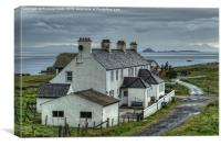 Self-catering cottages, Duntulm, Canvas Print