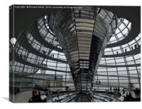 Inside the Reichtag dome                        , Canvas Print