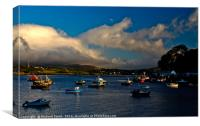 Loch portree in evening light., Canvas Print
