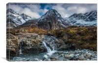 Another, yet smaller, cascade in Coire na Crieche, Canvas Print