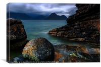 The round stone at Elgol, Canvas Print