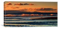 Sunset coloured view of South Uist from Talisker., Canvas Print