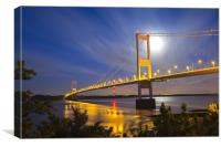 Severn Bridge by Night, Canvas Print