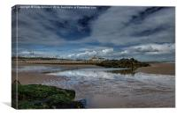 Low tide at Aberdeen, Canvas Print