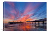 Brighton Sunset, Canvas Print