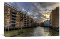 China Wharf, Canvas Print